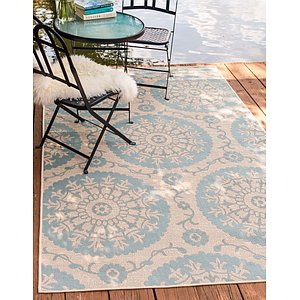 Link to 5' 3 x 8' Outdoor Botanical Rug page
