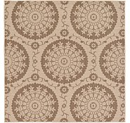 Link to Unique Loom 6' x 6' Outdoor Botanical Square Rug