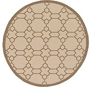 Link to Unique Loom 6' x 6' Outdoor Trellis Round Rug