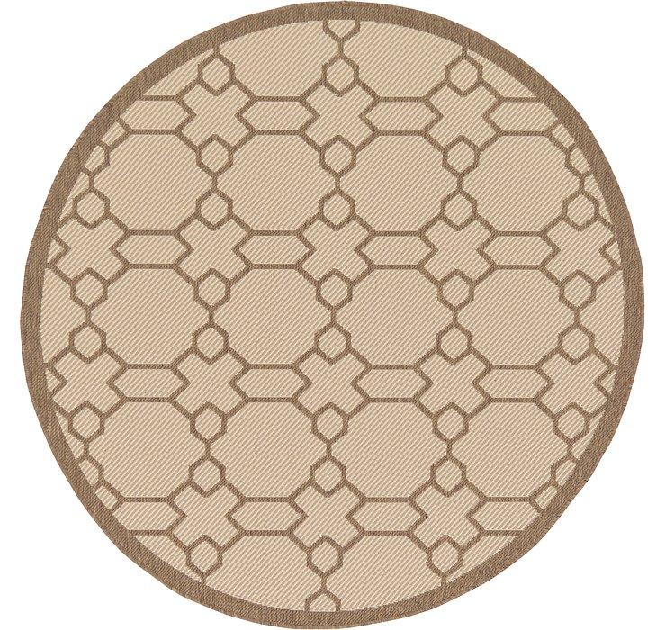 6' x 6' Outdoor Lattice Round Rug