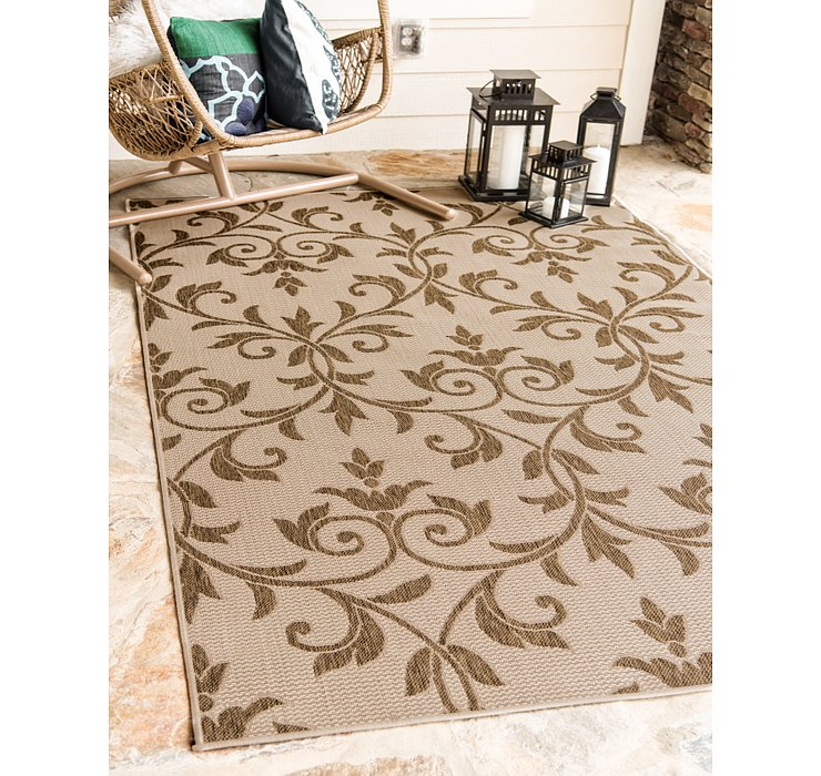 65cm x 90cm Outdoor Botanical Rug
