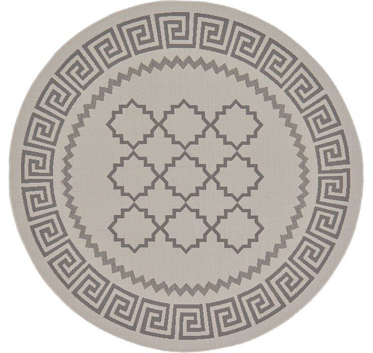 6' x 6' Outdoor Lattice Round Rug