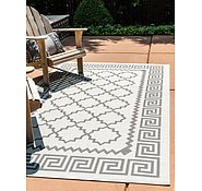 Link to Unique Loom 3' 3 x 5' Outdoor Rug