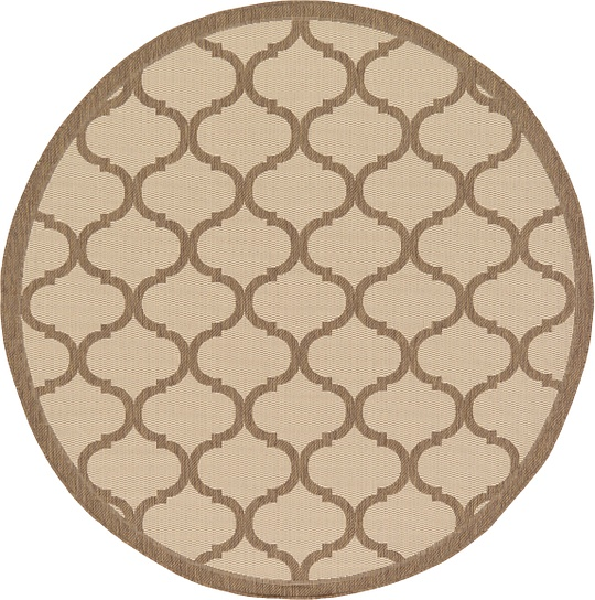 beige 6 39 x 6 39 outdoor trellis round rug area rugs irugs uk. Black Bedroom Furniture Sets. Home Design Ideas