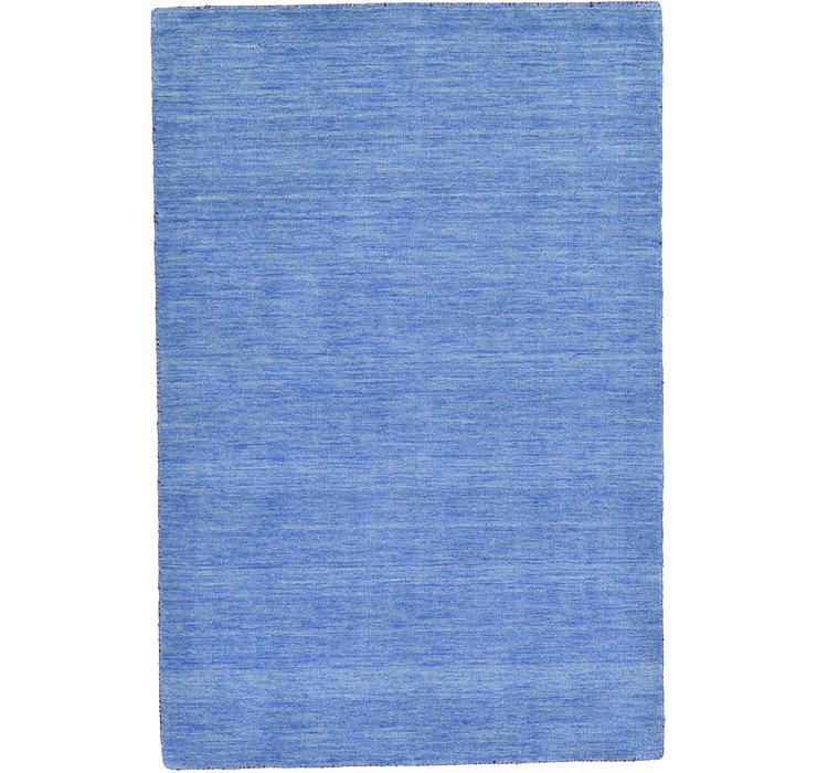 HandKnotted 4' x 5' 7 Solid Gabbeh Rug