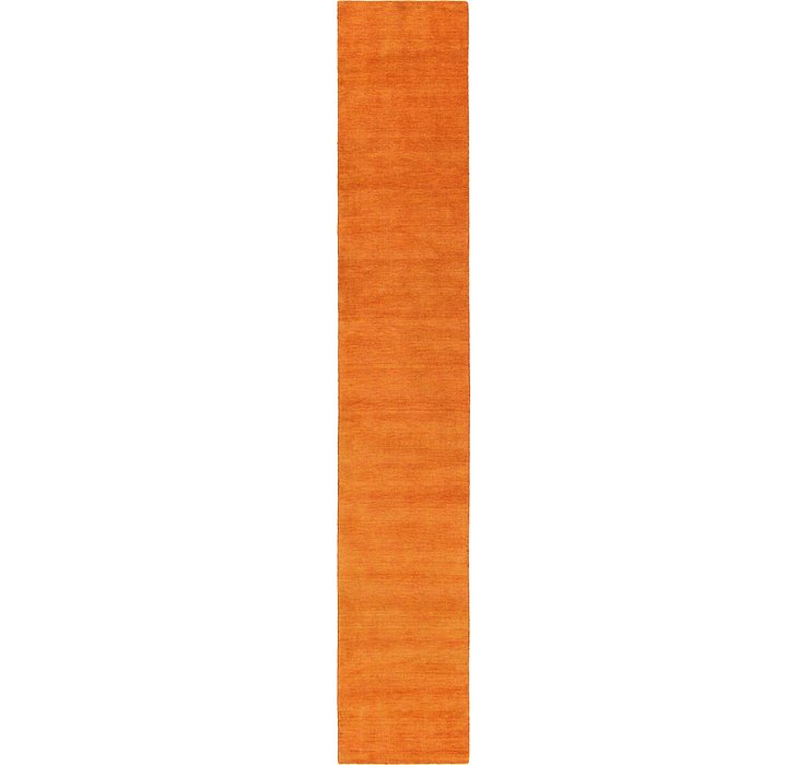 HandKnotted 2' 7 x 16' 5 Solid Gabbeh Runner Rug