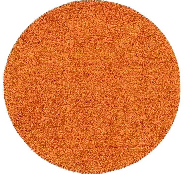 70cm x 70cm Solid Gabbeh Round Rug