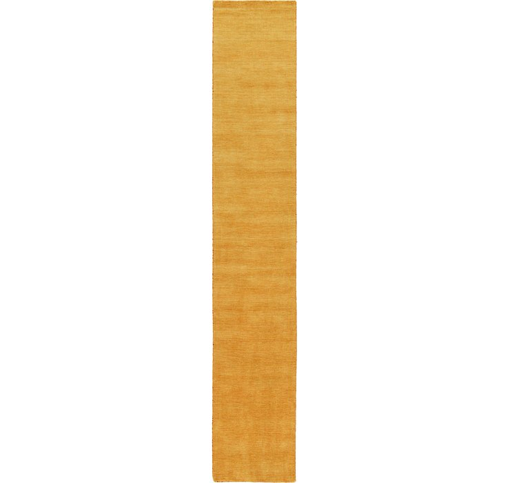 Gold Solid Gabbeh Runner Rug