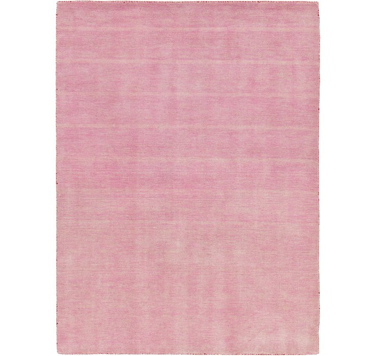 Pink Solid Gabbeh Rug