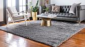 8' x 8' Luxury Solid Shag Square Rug thumbnail image 2