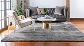 8' x 8' Luxury Solid Shag Square Rug thumbnail image 3