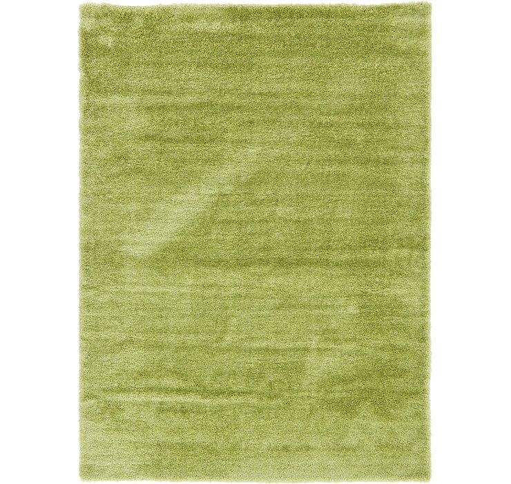 Cedar Green Luxury Solid Shag Rug