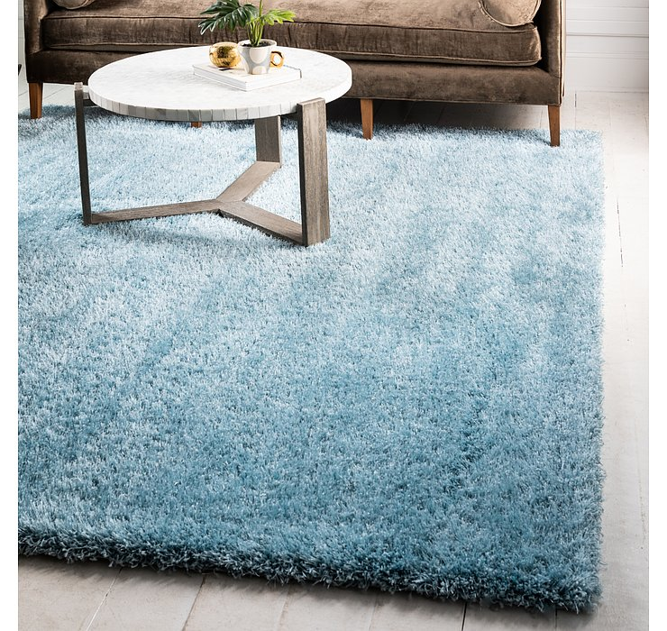 8' x 8' Luxe Solid Shag Square ...