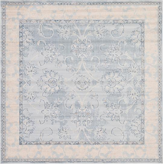 Light Blue 8 X 8 Restoration Square Rug Area Rugs