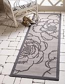 2' 2 x 6' Outdoor Botanical Runner Rug thumbnail image 1