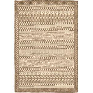 Unique Loom 2' 2 x 3' Outdoor Border Rug
