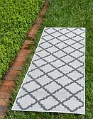 2' 2 x 6' Outdoor Lattice Runner Rug thumbnail