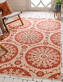 Unique Loom 5' 3 x 8' Outdoor Botanical Rug thumbnail image 1