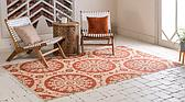 Unique Loom 5' 3 x 8' Outdoor Botanical Rug thumbnail image 2