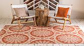 Unique Loom 5' 3 x 8' Outdoor Botanical Rug thumbnail image 3