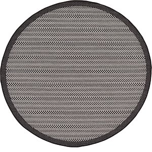 Unique Loom 6' x 6' Outdoor Border Round Rug