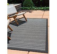 Link to Unique Loom 6' x 9' Outdoor Border Rug