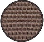 Link to Unique Loom 6' x 6' Outdoor Border Round Rug