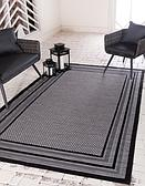 Unique Loom 7' x 10' Outdoor Border Rug thumbnail image 1
