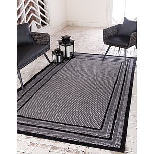 Unique Loom 9' x 12' Outdoor Border Rug