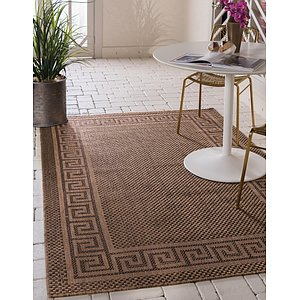 Unique Loom 3' 3 x 5' Outdoor Border Rug