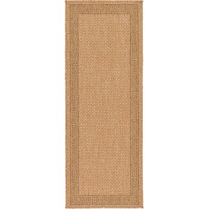 Unique Loom 2' 2 x 6' Outdoor Border Runner Rug