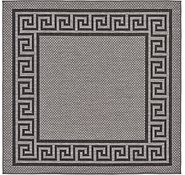 Link to Unique Loom 6' x 6' Outdoor Border Square Rug