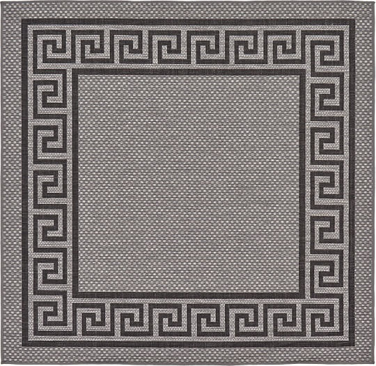 Gray 6 39 X 6 39 Outdoor Square Rug Area Rugs IRugs UK