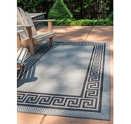 Link to Unique Loom 2' 2 x 3' Outdoor Border Rug
