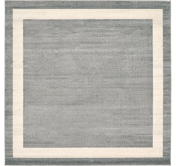 Gray Angelica Square Rug