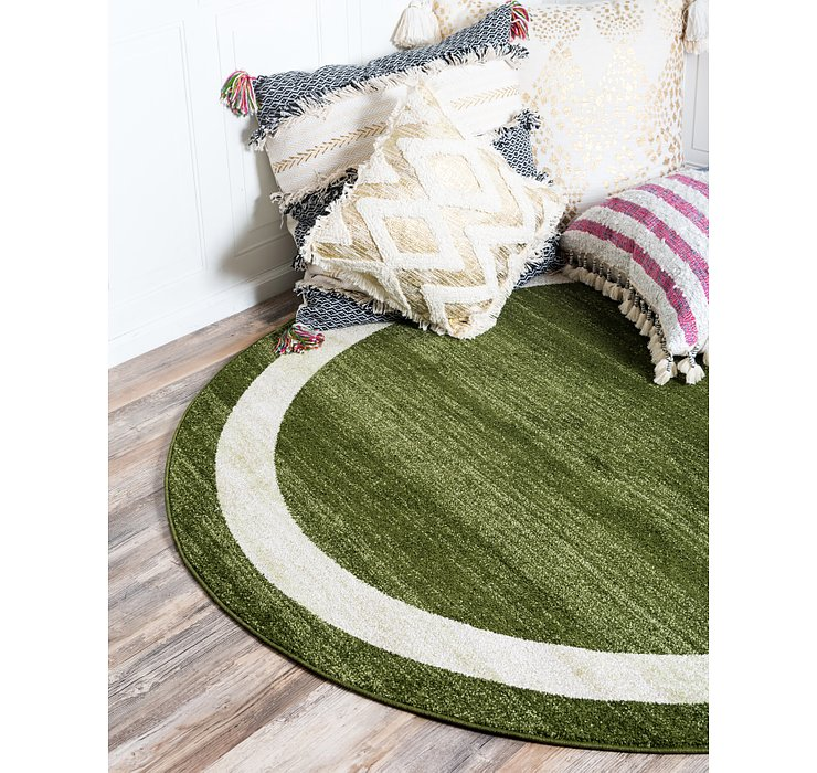 Green Angelica Round Rug