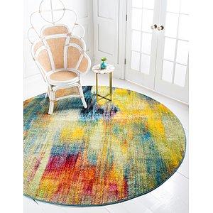 Unique Loom 6' x 6' Lyon Round Rug