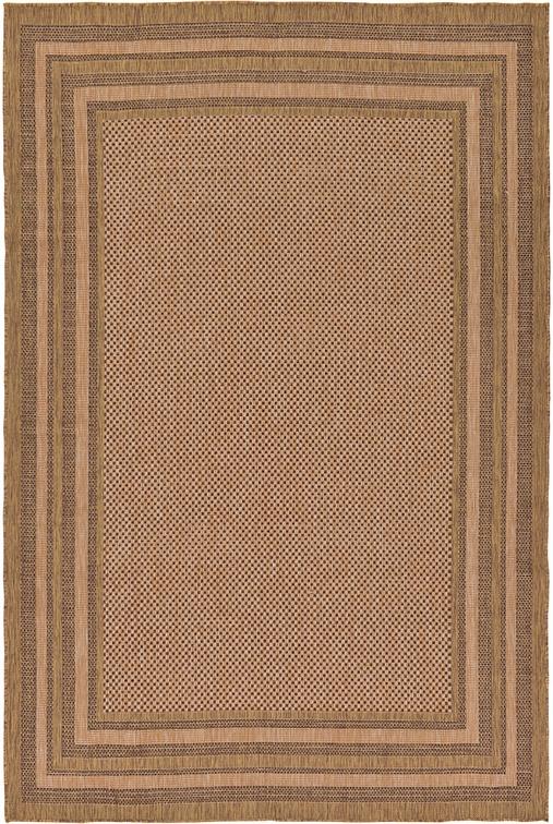 light brown 7 39 x 10 39 outdoor border rug area rugs irugs uk. Black Bedroom Furniture Sets. Home Design Ideas