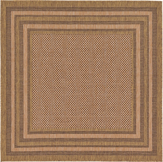 Light Brown 6 39 X 6 39 Outdoor Square Rug Area Rugs IRugs UK