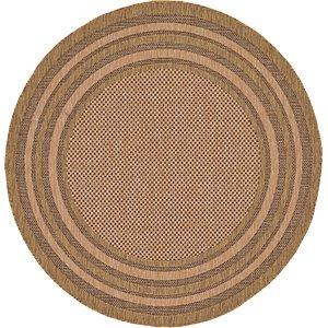 Unique Loom 6' x 6' Outdoor Border Round Rug