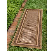 Link to Unique Loom 2' 2 x 6' Outdoor Border Runner Rug