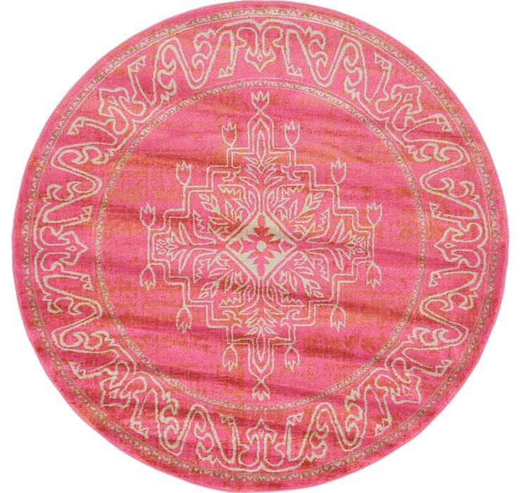 Pink Delilah Round Rug