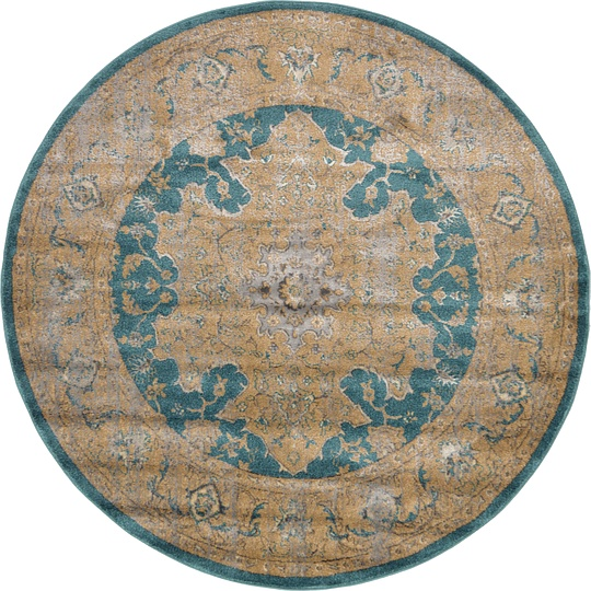 Teal 6' X 6' Aria Round Rug