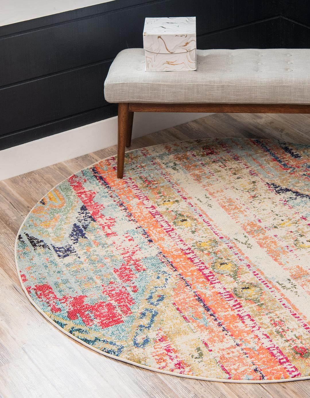 6 x 6 santa fe round rug