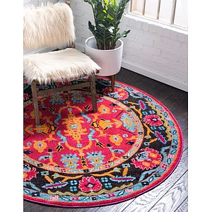 Unique Loom 8' x 8' Medici Round Rug