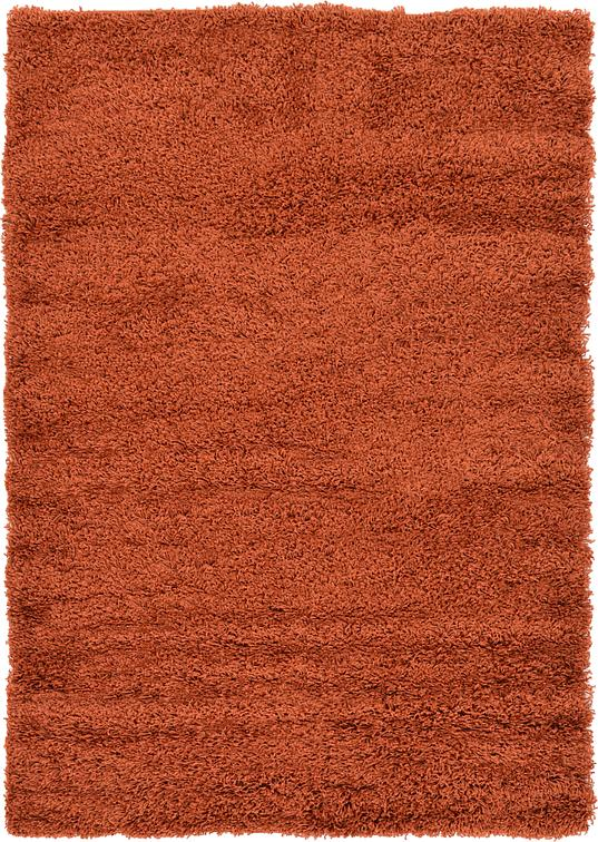 Terracotta 4 X 6 Solid Shag Rug Area Rugs Irugs Uk