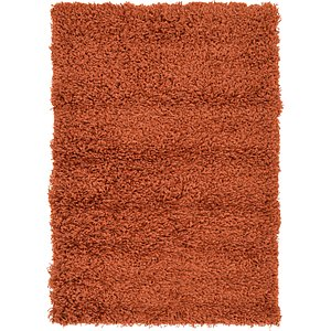 2x3 Orange Solid Frieze  Rugs!