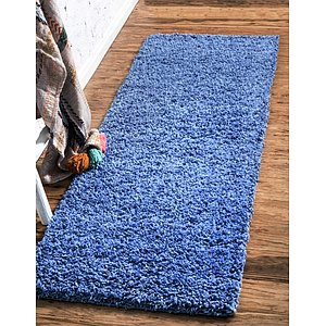 Unique Loom 2' 6 x 10' Solid Shag Runner Rug