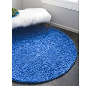 Link to Unique Loom 8' 2 x 8' 2 Solid Shag Round Rug