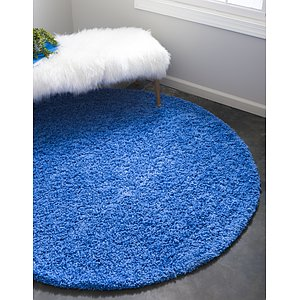 Link to 8' 2 x 8' 2 Solid Shag Round Rug page